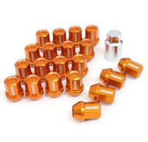 DURA-NUT L32 STRAIGHT TYPE 12X1.25 16 LUG + 4 LOCK SET  - ORANGE ALMITE
