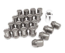DURA-NUT L32 STRAIGHT TYPE 12X1.25 16 LUG + 4 LOCK SET -  GUNMETTALIC ALMITE