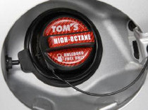 TOM'S RACING GAS CAP OVER LAY CARBON RED HIGH OCTANE