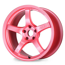 Gram Lights 57CR 18X9.5 +38 5x100 Sakura Pink Wheel