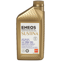 ENEOS SUSTINA Premium Synthetic Motor Oil 0W-20 (1qt)