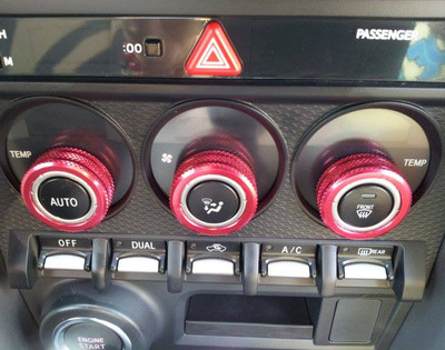 Dual Climate Control A/C Knob Cover Set (3pc)
