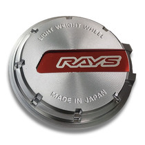 Rays Gram Lights 57CR/57DR Black Chrome Red Logo Center Cap