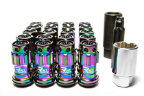 Project Kics R40 Iconix M12x1.25 Neo Chrome Lug Nuts w/Locks (KICS-WRIF13NK)