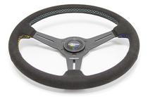 GReddy 340mm Black Suede Steering Wheel - GPP Colors (16500204)