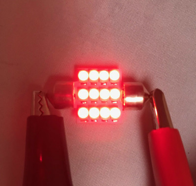 LED WERKS Red Dome Light Bulb (FT86-LED-DOME-R)