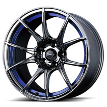 WedsSport SA10R 18x9.5 +45 5x100 Blue Light Chrome Wheel