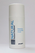 This healing cream contains titanium dioxide in addition to moisturizers and anti-rosacea marine ingredients to provide protection from the harmful effects of sunlight, and also to mask the embarrassing red face of rosacea while your skin is healing.
