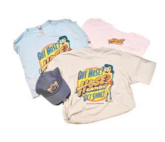 All three colors of shirts.  Blue, Gray and Pink.