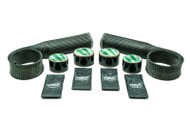 Upper Radiator Hose Skin Kit-  Carbon Fiber/Kevlar  Includes Upper & Lower Skins & Boa Clamps BLACK
