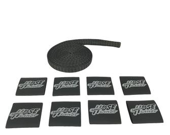 """Black 1/2"""" Carbon Fiber/Kevlar Hose Skin Kit"""