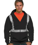 Hi-Visibility Full Zip Hooded Fleece