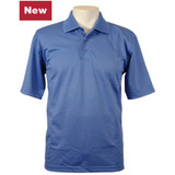 Men's Embossed Honeycomb Polo Shirt