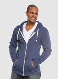 Unisex Organic RPET  Full Zip Hooded Sweatshirt