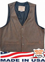 Garbie Vest Closed Side in Aspen Leather  Size 42