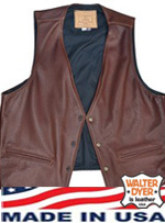 Garbie Vest in Brown Leather  Size 44