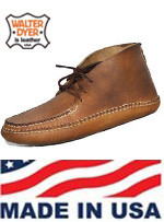 Men's Walter Dyer Leather Size 10  Chukka Moccasin Made in USA!