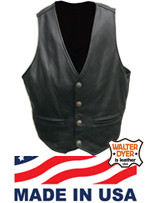 Men's Garbie Vest Black - No Side Lacing