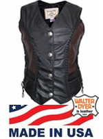Walter Dyer Ladies' Dime Vest with Two Tone
