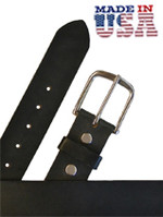 Brenneman Heavy Leather Casual Belt  Black