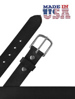 "Heavy Leather Casual Belt 1 1/2"" Black"
