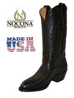 Men's Nocona Black Deertan Medium Round Toe USA
