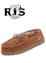 Ladies' RJS Sheepskin Moccasin Slipper RJS 101