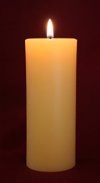 "Beeswax Pillar Candle 2"" x 4.5"""