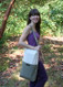 Cotton canvas meditation bench bag