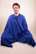 Royal Blue Ahimsa Silk Shawl