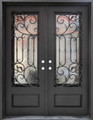 6/0 x 8/0 Wrought Iron Door w/ Operable Glass Panel