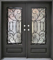 6/0 x 6/8 Wrought Iron Door w/ Operable Glass Panel