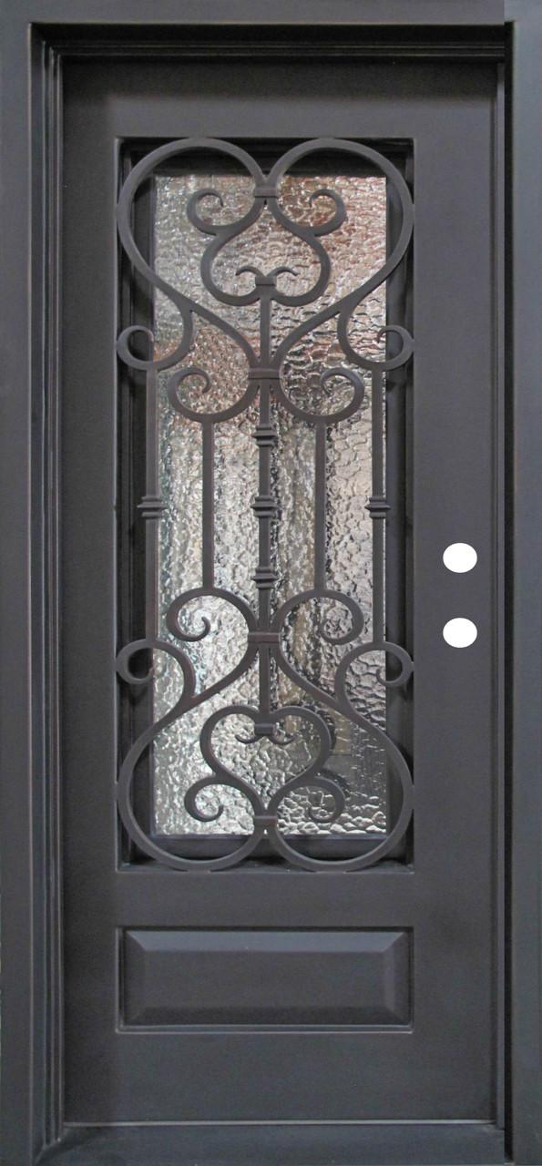 Single Wrought Iron Door Doors W Iron Works Oper Able
