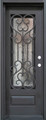 3/0 x 8/0 Single Wrought Iron Door w/ Operable Glass Panel