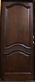 Single Mahogany  Eyebrow Solid Wood Entry Door