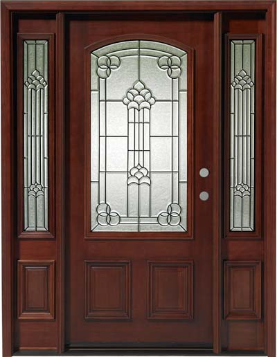 the best attitude 7bb12 237a7 Triple Mahogany 3/4 Lite Solid Wood Entry Door