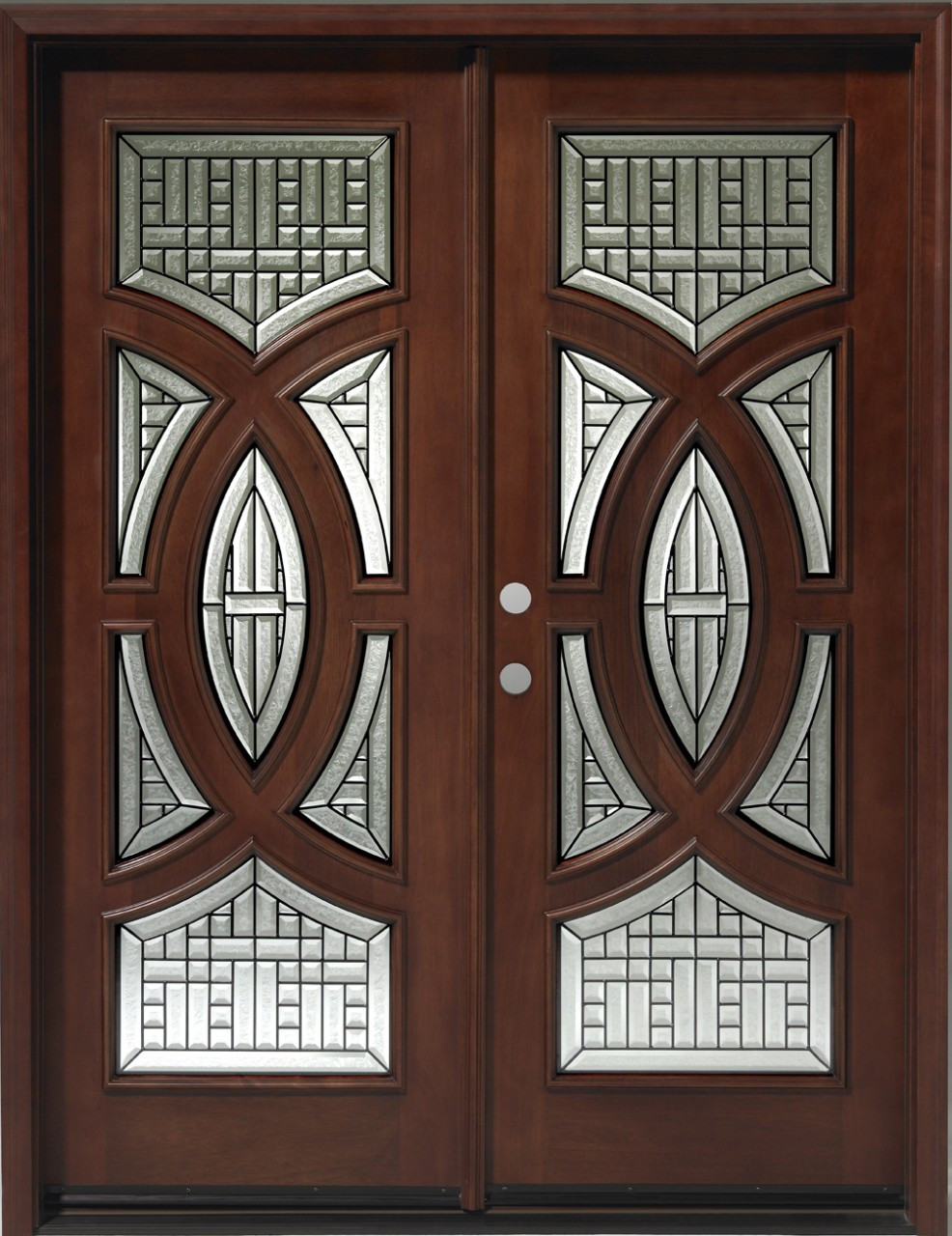 Discount Door Center Prehung and Prefinished Circular Deluxe Double on