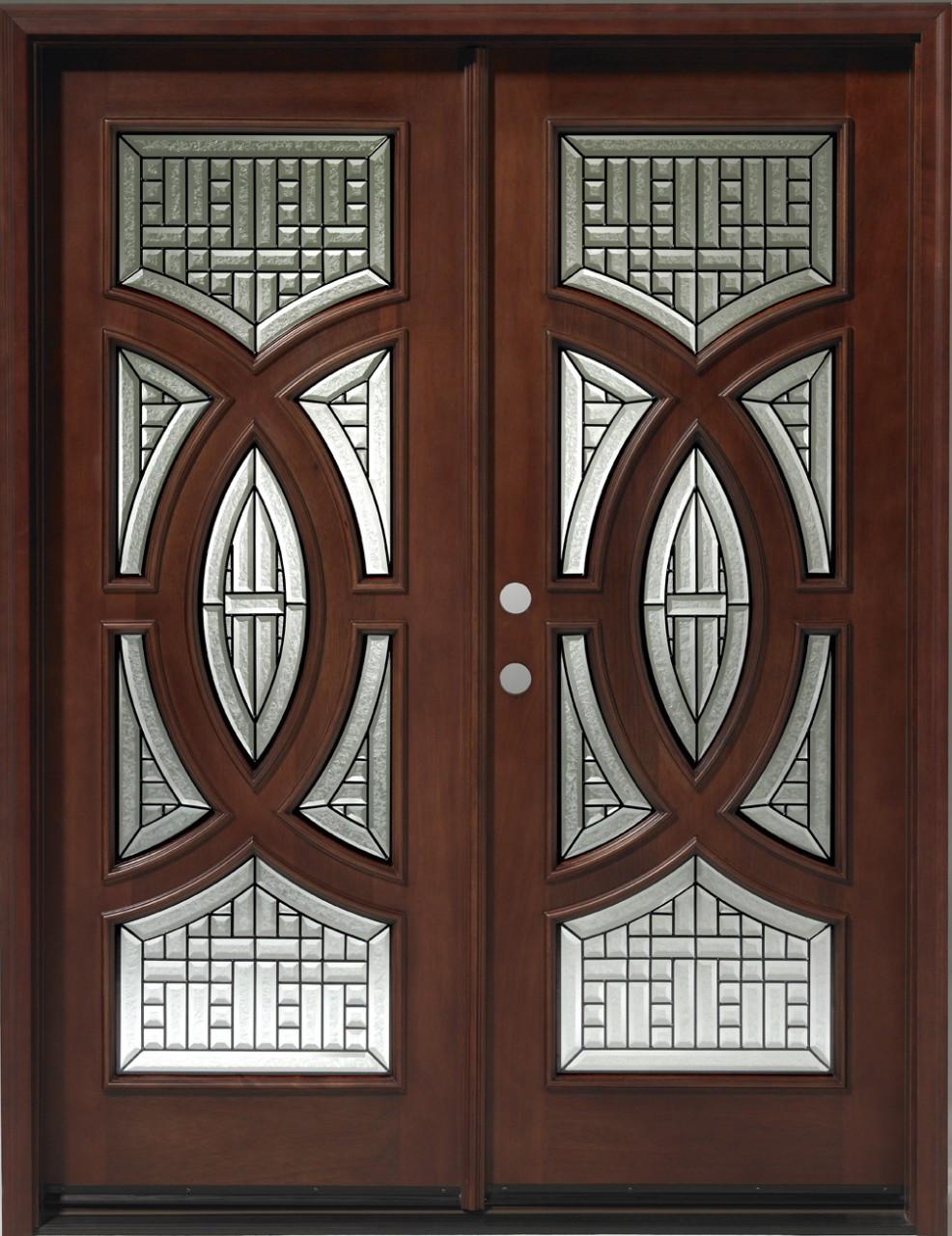 Discount Door Center Prehung And Prefinished Circular Deluxe Double Entry Door