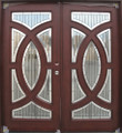 6/0 x 6/8 Mahogany Double Door Circular Deluxe GL19, Solid Wood Entry Door
