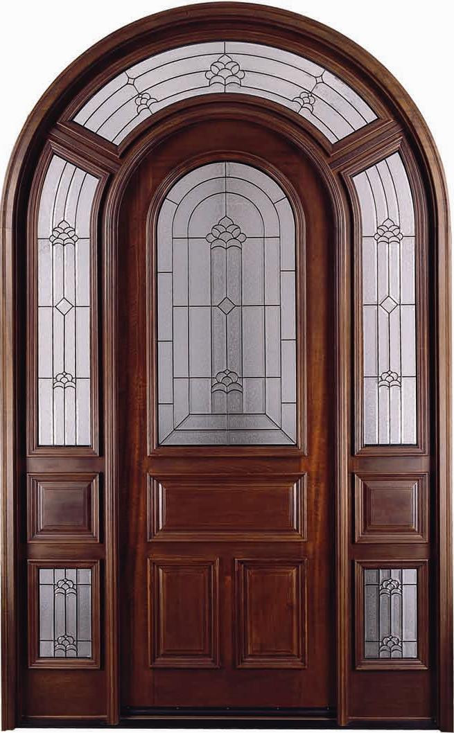 Discount Door Center Prehung And Prefinished Arched Entry Door