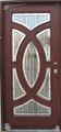 3/0 x 6/8 Mahogany Single Door Circular Deluxe GL19, Solid Wood Entry Door