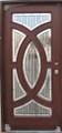3/0 x 6/8 Mahogany Single Door Circular Deluxe GL19, Solid Wood Entry Door