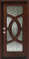 3/0 x 6/8 Mahogany Single Door Circular Deluxe GL18, Solid Wood Entry Door