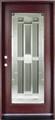 3/0 x 6/8 Mahogany Single Door Full Light, Solid Wood Entry Door