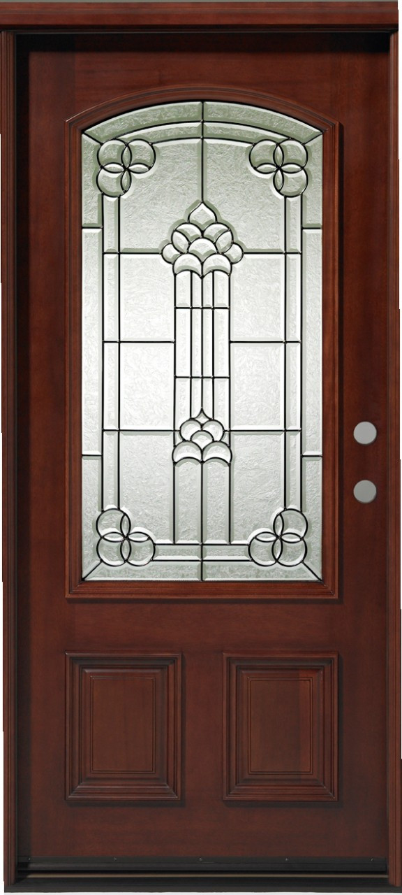 Discount Door Center Prehung and Prefinished 3/4 Lite Arched Single on