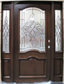 5/0 x 6/8 Mahogany Front Unit Pre-hung & Finished  2 Panel Eybrow TMH7501-GLAGM