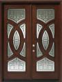6/0 x 8/0 Mahogany Double Door Circular Deluxe, Solid Wood Entry Door