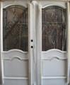 6/0 x 6/8 Mahogany Double Door White 3/4 Lite, Solid Wood Entry Door