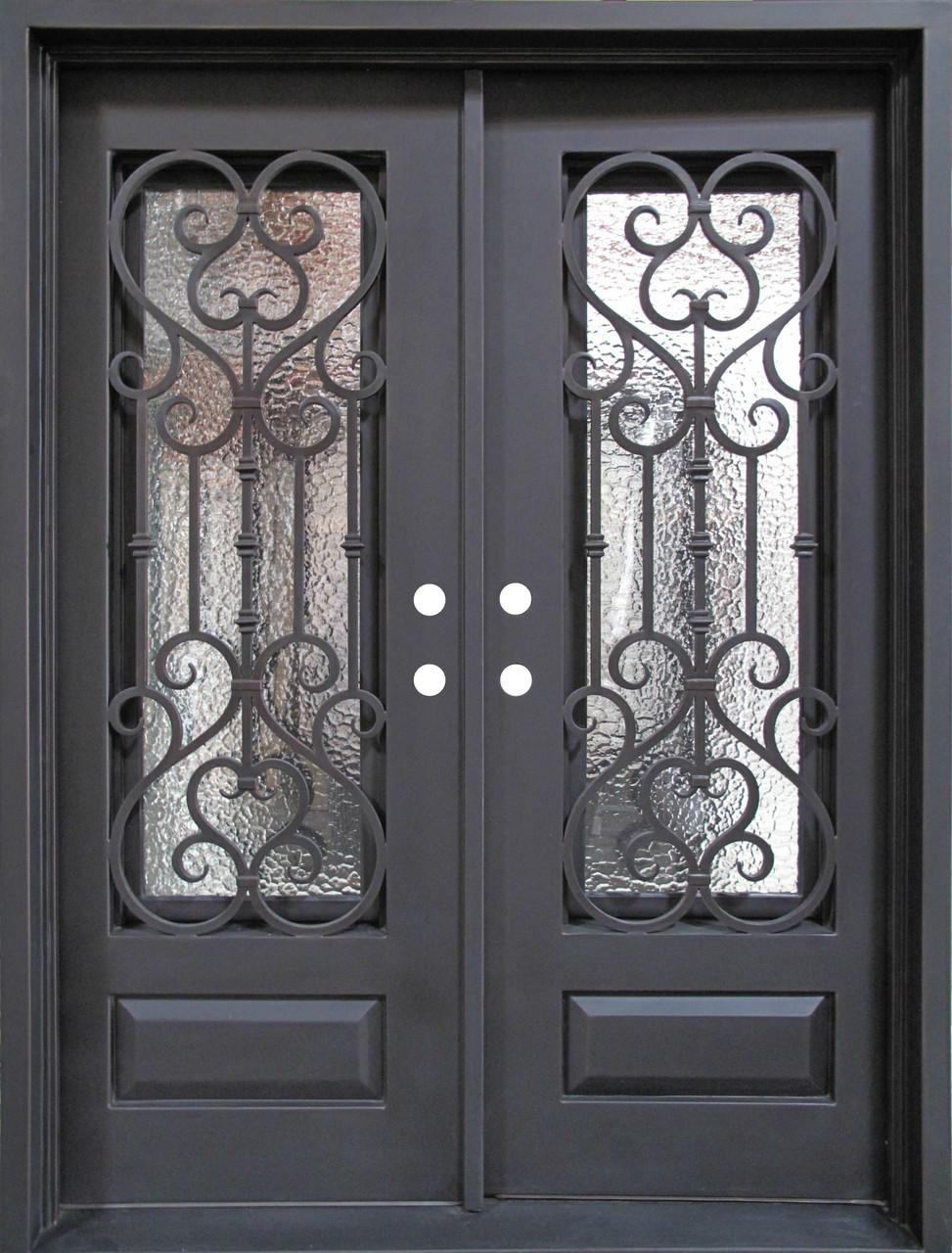 Wrought Iron Door Doors W Iron Works Oper Able Glass