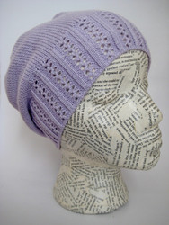 Slouchy spring crochet hat for girls